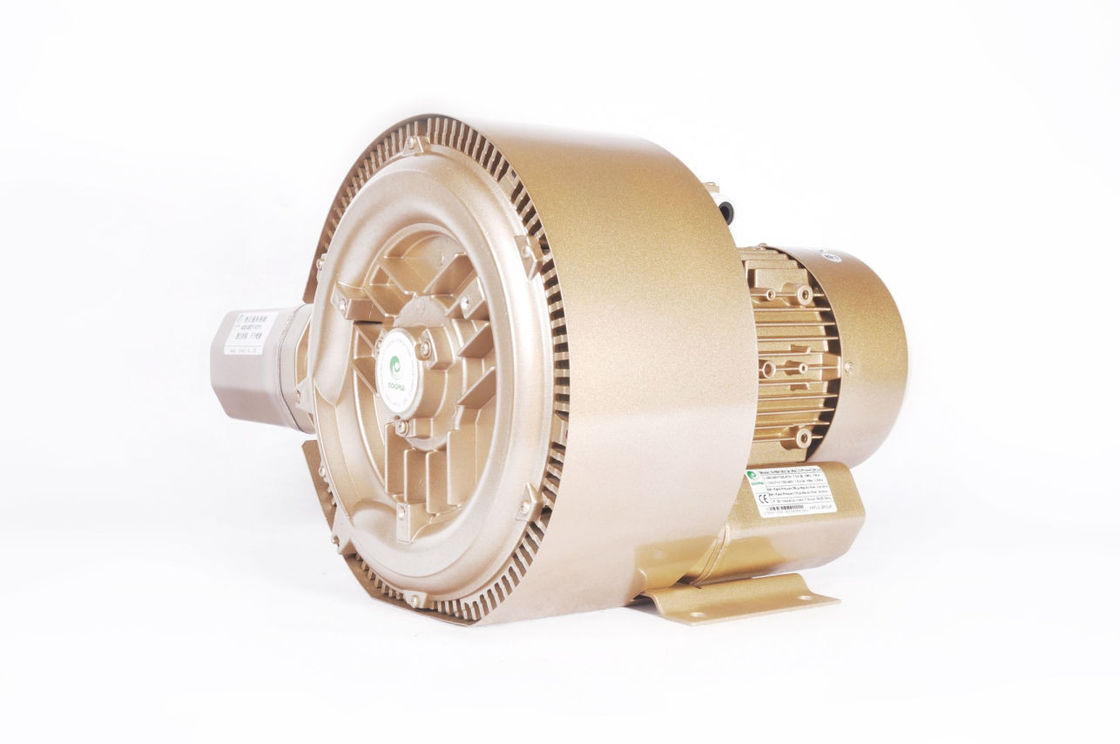 High Flow Industria Turbo Ring Air Blower 3.45kw Double Stage High Pressure